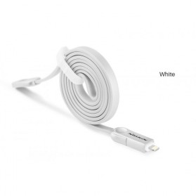 Nillkin Plus III Micro USB and Lightning Sync Data Charging Cable - White