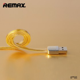 Remax Gold Micro USB Braided Cable for Smartphone - RC-016m - Golden - 3