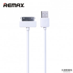 Remax Light Speed 30 Pin Apple Cable for iPhone 4/4s - White