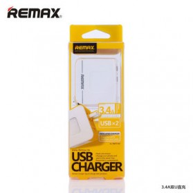 Remax USB Wall Travel Charger 2 Port 3.4A - Black - 2