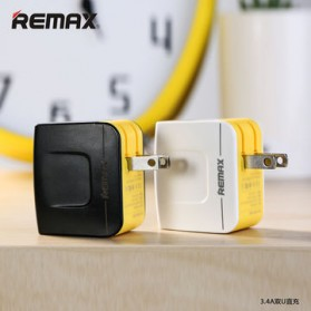 Remax USB Wall Travel Charger 2 Port 3.4A - Black - 3