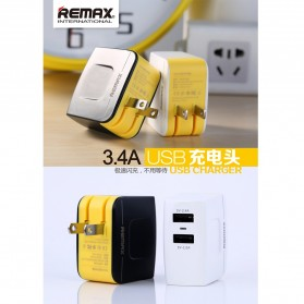 Remax USB Wall Travel Charger 2 Port 3.4A - Black - 6