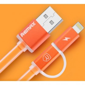Remax Aurora High Speed Double Sided Micro Usb / Lightning RC-020t - Orange