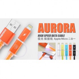 Remax Aurora High Speed Double Sided Micro Usb / Lightning RC-020t - Orange - 3