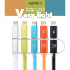 Remax Aurora High Speed Double Sided Micro Usb / Lightning RC-020t - Black - 8