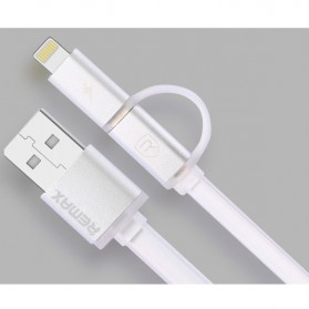 Remax Aurora High Speed Double Sided Micro Usb / Lightning RC-020t - White