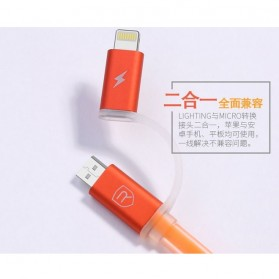 Remax Aurora High Speed Double Sided Micro Usb / Lightning RC-020t - White - 5