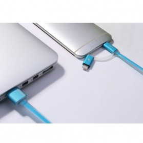 Remax Aurora High Speed Double Sided Micro Usb / Lightning RC-020t - White - 7
