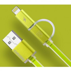 Remax Aurora High Speed Double Sided Micro Usb / Lightning RC-020t - Green
