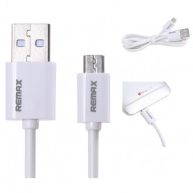 Remax Fast Charging Micro USB Cable for Smartphone - White - 1