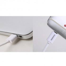 Remax Fast Charging Micro USB Cable for Smartphone - White - 4