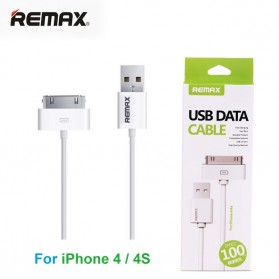 Remax Fast Charging 30 Pin to USB Cable for iPhone 4/4s - White - 1