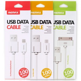 Remax Fast Charging 30 Pin to USB Cable for iPhone 4/4s - White - 5