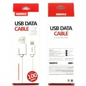 Remax Fast Charging Lightning Pin Cable for iPhone 6/7/8/X - RC-007i - White - 3