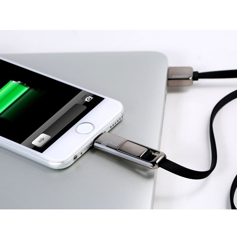 ... Remax Transformer King Kong High Speed Double Sided Micro Usb / Lightning Pin for Smartphone and ...