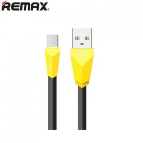Remax Alien Fast Charging Micro USB Cable for Smartphone - RC-030 - Black/Yellow