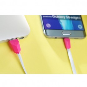 Remax Alien Fast Charging Micro USB Cable for Smartphone - RC-030 - Black/Red - 11