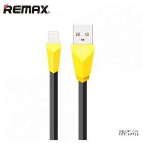 Remax Aliens Fast Charging Lightning USB Cable for iPhone 6/7/8/X - RC-030 - Black/Yellow