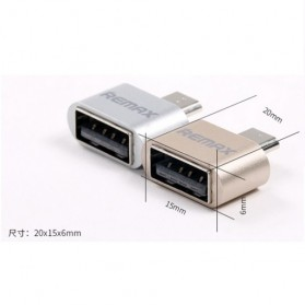 Remax Micro USB to USB OTG Plug for Smartphone - Golden - 5