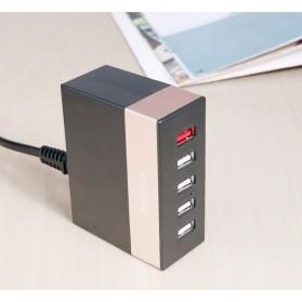 Remax Ming Series RU-U1 5 Ports USB Hub Charger with Super Charger (EU Plug) - White - 5