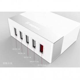 Remax Ming Series RU-U1 5 Ports USB Hub Charger with Super Charger (EU Plug) - White - 6