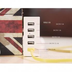 Remax Ming Series RU-U1 5 Ports USB Hub Charger with Super Charger (EU Plug) - White - 7