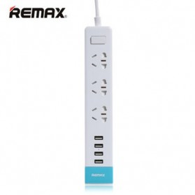 Remax Young Series RU-S2 4 Ports USB Hub Charger and 3 Electric Plug - Blue