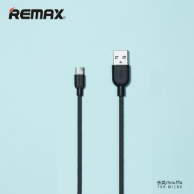 Remax Souffle Micro USB Cable for Smartphone - RC-031im - Black