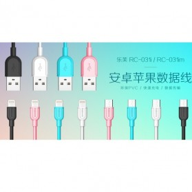 Remax Souffle Micro USB Cable for Smartphone - RC-031im - Black - 2