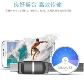 Remax Breathe Micro USB Data Cable for Smartphone - RC-029m - Black - 6