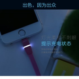 Remax Breathe Lightning Data Cable for iPhone - RC-029i - White - 6