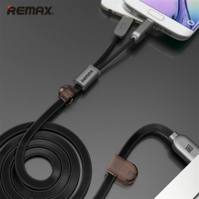 Remax Gemini High Speed 2 in 1 Micro Usb / Lightning Pin for Smartphone and iPhone 5/6/7/8/X - RC-025t - Black - 1