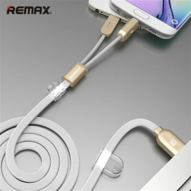 Remax Gemini High Speed 2 in 1 Micro Usb / Lightning Pin for Smartphone and iPhone 5/6/7/8/X - RC-025t - White