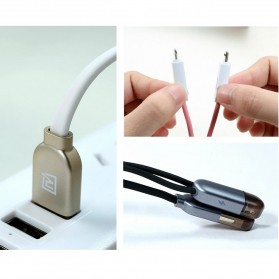 Remax Gemini High Speed 2 in 1 Micro Usb / Lightning Pin for Smartphone and iPhone 5/6/7/8/X - RC-025t - White - 6