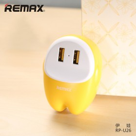 Remax Lovely 2 USB Adapter Charger 2.4A - RP-U26 - Yellow