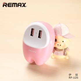 Remax Lovely 2 USB Adapter Charger 2.4A - RP-U26 - Pink