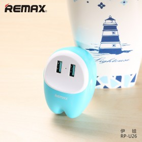 Remax Lovely 2 USB Adapter Charger 2.4A - RP-U26 - Blue