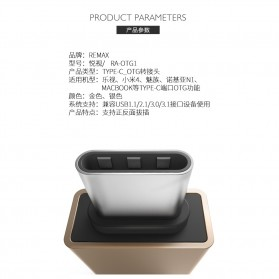 Remax USB Type C to USB 3.0 OTG Smartphone - RA-OTG1 - Silver - 4