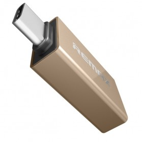 Remax USB Type C to USB 3.0 OTG Smartphone - RA-OTG1 - Golden