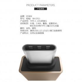 Remax USB Type C to USB 3.0 OTG Smartphone - RA-OTG1 - Golden - 4