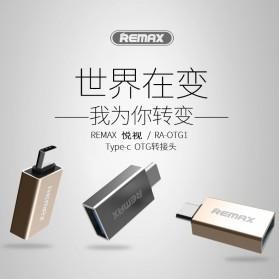 Remax USB Type C to USB 3.0 OTG Smartphone - RA-OTG1 - Golden - 5