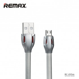 Remax Laser Data Micro USB Cable for Smartphone - RC-035m - Gray