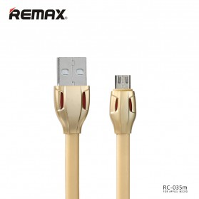 Remax Laser Data Micro USB Cable for Smartphone - RC-035m - Golden