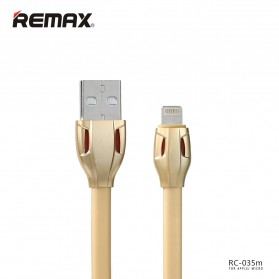 Remax Laser Data Lightning USB Cable for iPhone & iPad - RC-035i - Golden