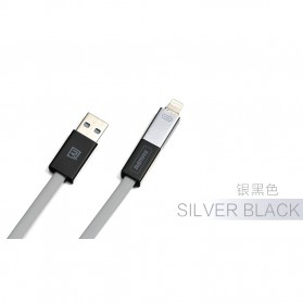 Remax Shadow Magnet 2 in 1 Micro USB / Lightning Pin for Smartphone and iPhone 5/6/7/8/X - RC-026t - Black