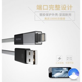 Remax Shadow Magnet 2 in 1 Micro USB / Lightning Pin for Smartphone and iPhone 5/6/7/8/X - RC-026t - Golden - 3