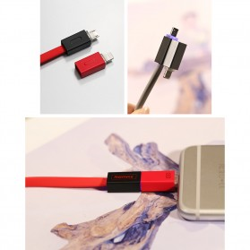 Remax Shadow Magnet 2 in 1 Micro USB / Lightning Pin for Smartphone and iPhone 5/6/7/8/X - RC-026t - Golden - 5