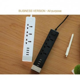 Remax Business Version RU-S2 4 Ports USB Hub Charger and 3 EU Universal Plug - Black Gold - 2