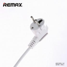 Remax Business Version RU-S2 4 Ports USB Hub Charger and 3 EU Universal Plug - Black Gold - 4