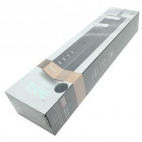 Remax Business Version RU-S2 4 Ports USB Hub Charger and 3 EU Universal Plug - Black Gold - 5